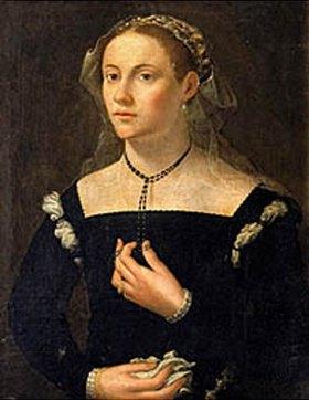 Französisch: Bildnis einer Dame in eleganter Kleidung (15. Jahrhundert)