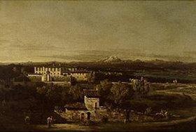 Bernardo (Canaletto) Bellotto: Die Villa Melzi d`Eril (Cagnola) bei La Gazzada