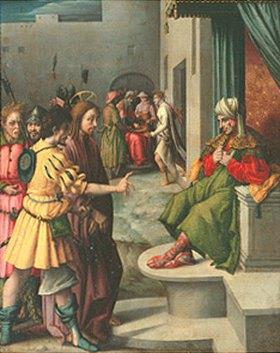 Bacchiacca (Francesco Umbertini Verdi): Christus vor Kaiphas