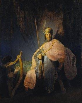 Rembrandt van Rijn: David spielt die Harfe vor Saul