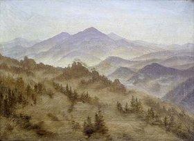 Caspar David Friedrich: Landschaft mit dem Rosenberg in der böhmischen Schweiz