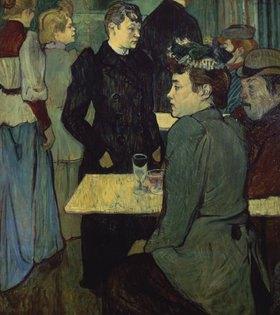 Henri de Toulouse-Lautrec: Eine Ecke im Moulin de la Galette