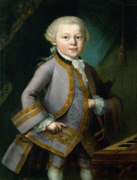 Peter Anton Lorenzoni: Der junge Wolfgang Amadeus Mozart in Hofkleidung