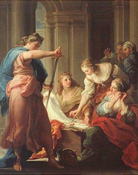 Pompeo Girolamo Batoni: Achill bei den Töchtern des Licomedes
