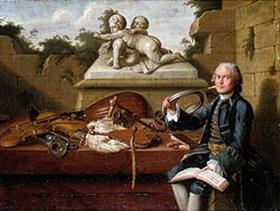 Peter Jakob Horemans: Bildnis eines Hofmusikers in Uniform