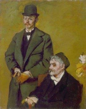 Edgar Degas: Henri Rouart mit dem Sohn Alexis