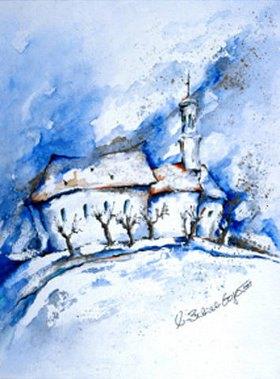 Annette Bartusch-Goger: Kobelkirche im Winter