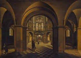 Hendrick Steenwijk: Kirchen-Inneres (Dom zu Aachen)