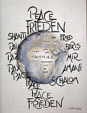 Annette Bartusch-Goger: Frieden weltweit  (Peace)