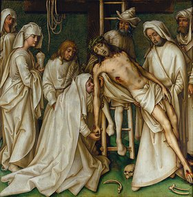 Hans Holbein d.Ä.: Sogenannte Graue Passion: Die Kreuzabnahme Christi