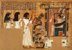 Ägyptisch: Das Totenfest des Neb Qued, 19. Dynastie. Um 1314-1200 v. Chr