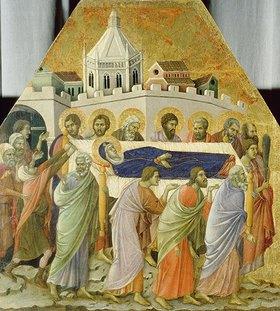 Duccio di Buoninsegna: Die Beerdigung der hl.Jungfr