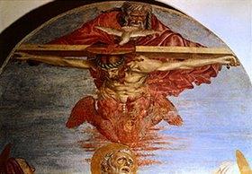 Andrea dal Castagno: Die hl. Dreifaltigkeit