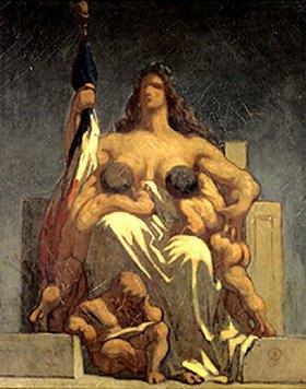Honoré Daumier: Die Republik (Entwurf)