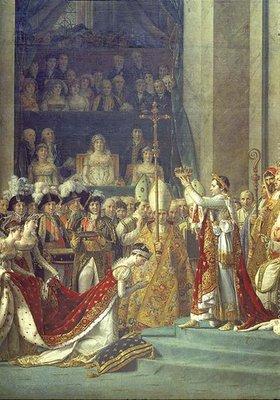 Jacques Louis David: Krönung Napoleons I. u. Kaiserin Josephines i. Notre-Dame, Detail