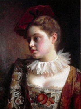 Gustave Jean Jaquet: Junge Frau mit rotem Barett