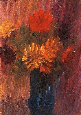 Alexej von Jawlensky: Großes Stillleben (rote und gelbe Dahlien)