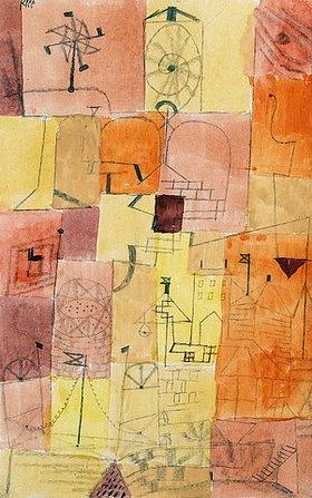 Paul Klee: Stadt eines Kindes mit Windmühle