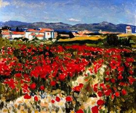 Albert Marquet: Mohnfeld in der Nähe von Saint Tropez