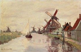 Claude Monet: Holländische Landschaft mit Windmühlen