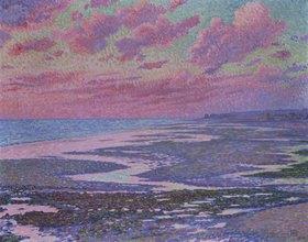 Theo van Rysselberghe: Strand von Ambleteuse bei Ebbe. 1900