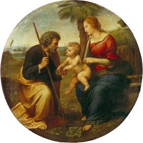 Raffael (Raffaello Sanzio): Die hl. Familie mit der Palme