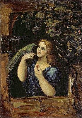 Paul Cézanne: Dame mit Papagei