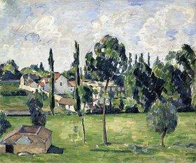 Paul Cézanne: Landschaft mit Wasserleitung