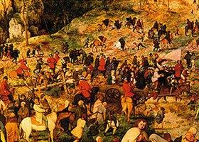 Pieter Brueghel d.Ä.: Kreuztragung Christi. 1564. Ausschnitt