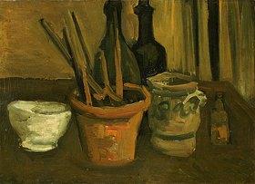 Vincent van Gogh: Stillleben mit Pinseln in einem Blumentopf