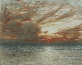 Albert Goodwin: Sonnenuntergang am Meeresstrand