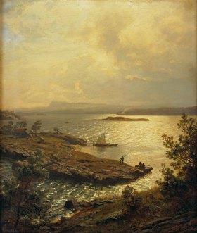 Hans Fredrik Gude: Blick von Solbakken (Baerum) in den Sandviks-Fjord