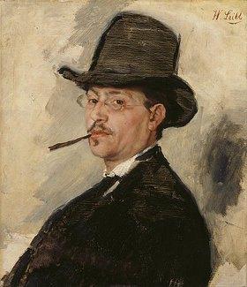Wilhelm Leibl: Bildnis des Malers Carl Schuch