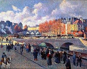 Maximilien Luce: Die Seine mit Pont Saint-Michel im Herbst