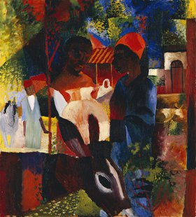 August Macke: Markt in Tunis