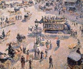 Camille Pissarro: Blick auf den Platz Saint-Lazare mit Pferde-Omnibus