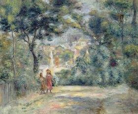 Auguste Renoir: Blick durch Bäume auf Sacre-Coeur, Paris