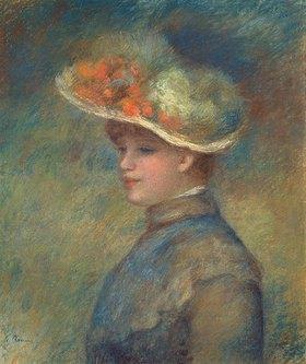 Auguste Renoir: Bildnis einer jungen Frau mit Blumenhut