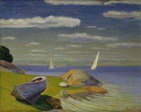 Harald Sohlberg: Boot am Ufer im Viksfjord