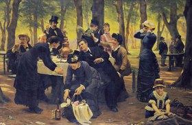 Wenzel Thornoe: Picknick im Wald bei Dyrehaven