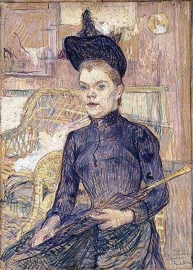 Henri de Toulouse-Lautrec: Frau mit schwarzem Hut (Berthe la Sourde)