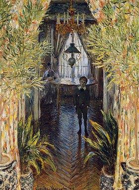 Claude Monet: Blick in ein Appartement mit Jean und Camille Monet