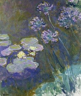 Claude Monet: Gelbe Seerosen und Agapanthes