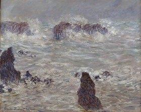 Claude Monet: Sturm an der Felsenküste der Belle-Ile