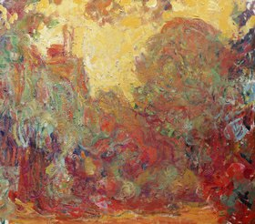 Claude Monet: Das Haus in Giverny, Komposition in rot
