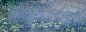 Claude Monet: Rechtes Mittelteil des großen Seerosenbildes im Musée de l`Orangerie