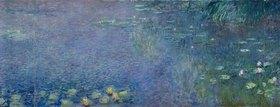 Claude Monet: Linkes Mittelteil des großen Seerosenbildes im Musée de l`Orangerie