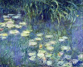 Claude Monet: Linkes Teil des großen Seerosenbildes im Musée de l`Orangerie