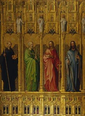 Meister des Heisterbacher Altars: Der hl.Benedikt und die Apostel Philip- pus, Matthäus und Jakobus d.J