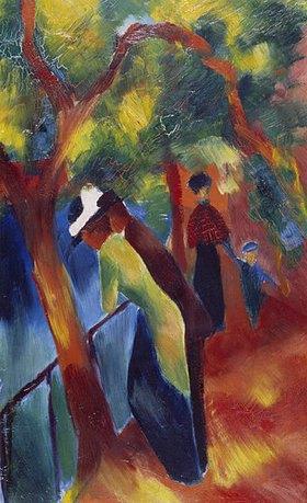 August Macke: Sonniger Weg. 1913